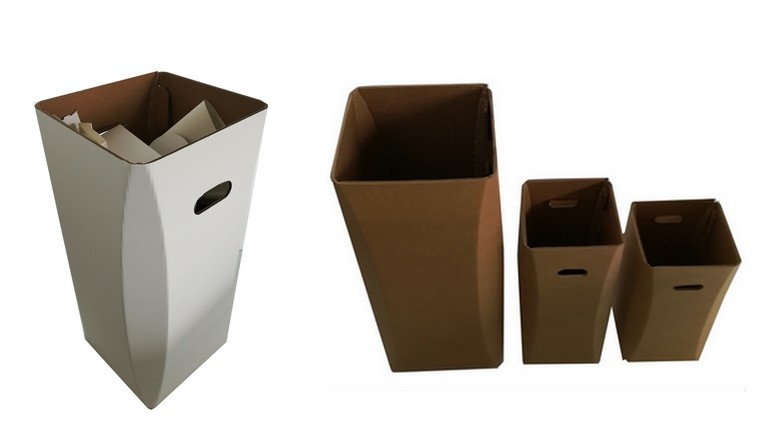 collection poublelle en carton arrondissons les angles